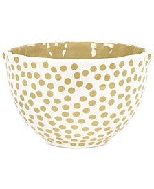 by Laura Johnson  Cobble Small Dot Ruffle Bowl