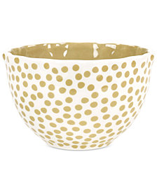 Coton Colors Cobble Small Dot Ruffle Bowl