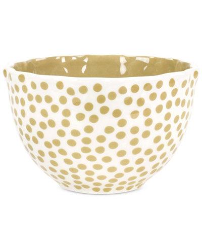 Coton Colors Cobble Small Dot Ruffle Bowl