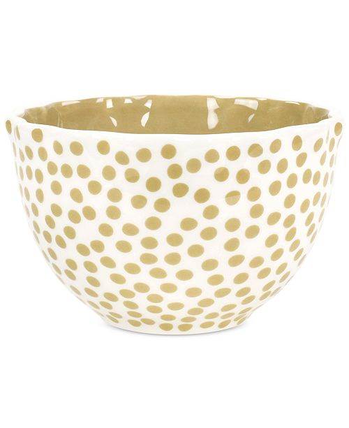 Coton Colors by Laura Johnson  Cobble Small Dot Ruffle Bowl
