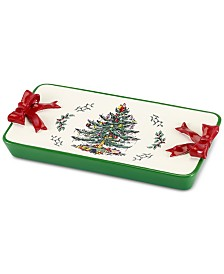 CLOSEOUT! Avanti Spode Christmas Tree Tray