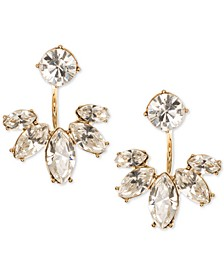 Gold-Tone Crystal Jacket Earrings