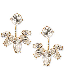 Marchesa Gold-Tone Crystal Jacket Earrings