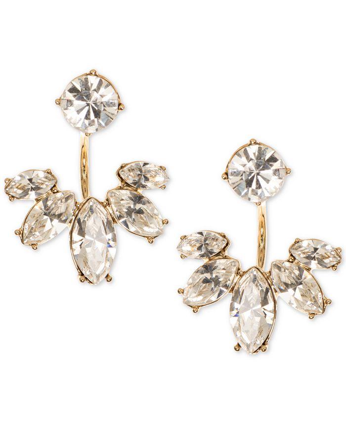 Marchesa - Gold-Tone Crystal Jacket Earrings