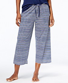 Sweet Stripe Cotton Capri Pajama Pants