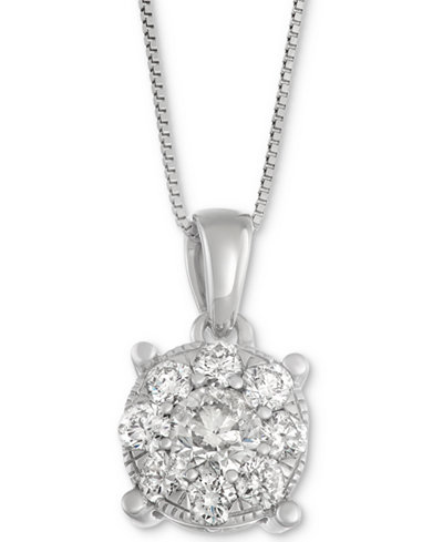 Diamond pendant necklace in 14k white gold 1 ct tw diamond pendant necklace in 14k white gold 1 ct tw mozeypictures Choice Image