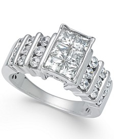 Diamond Princess Engagement Ring (2 ct. t.w.) in 14k White Gold