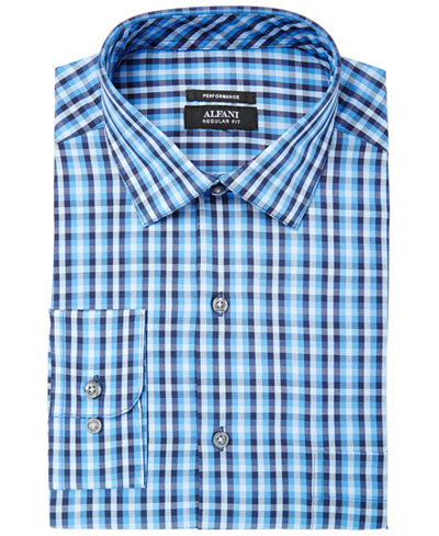 Alfani Men's Regular Fit Performance Stretch Small Pixel Print Shirt, Created for Macy's