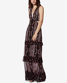 Avec Les Filles Paisley-Print Tiered Maxi Dress