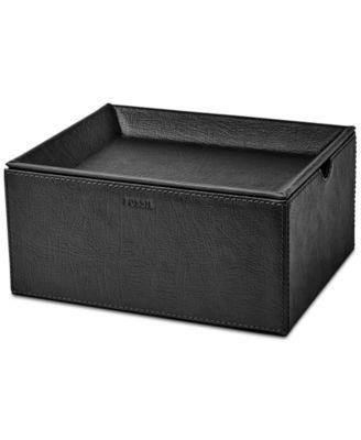 fossil menu0027s medium leather watch box sc 1 st macyu0027s