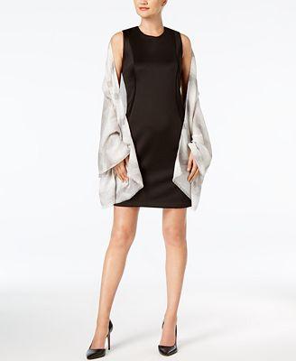 Calvin Klein Metallic Chevron Scarf & Wrap in One