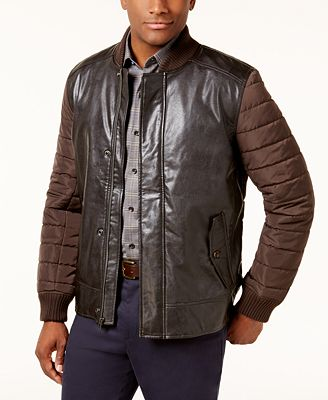 Tasso Elba Men's Pisa Faux Leather Jacket, Created for Macy's