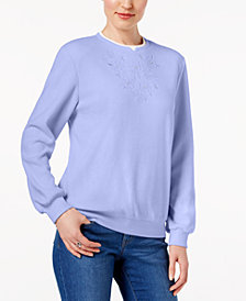 Alfred Dunner Petite Embellished Knit Top