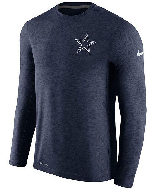 bd0e1def Nike Men's Dallas Cowboys Coaches Long Sleeve T-shirt & Reviews ...
