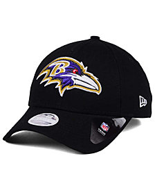 New Era Women's Baltimore Ravens Glitter Glam 9TWENTY Strapback Cap