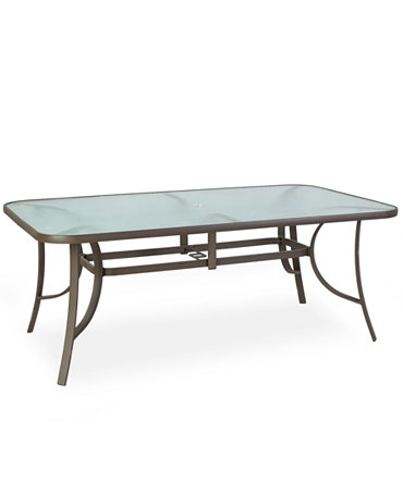 Aluminum 84 x 42 outdoor dining table furniture macy 39 s for Macys dining table