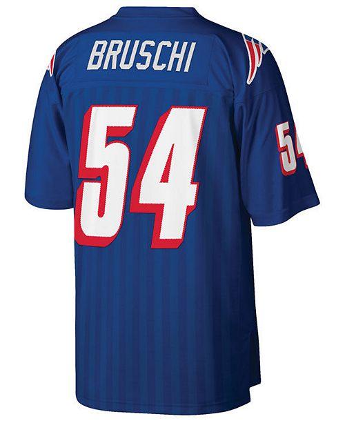 Mitchell & Ness Men's Tedy Bruschi New England Patriots Replica Throwback Jersey