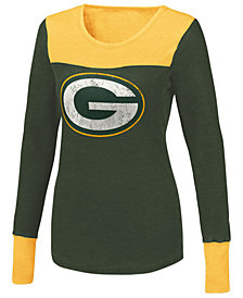 Touch By Alyssa Milano Women's Green Bay Packers Blindside Thermal Long Sleeve T-Shirt