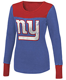 Touch By Alyssa Milano Women's New York Giants Blindside Thermal Long Sleeve T-Shirt