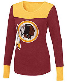 Touch By Alyssa Milano Women's Washington Redskins Blindside Thermal Long Sleeve T-Shirt