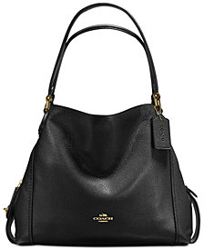 Coach E Shoulder Bag 31 In Polished Pebble Leather