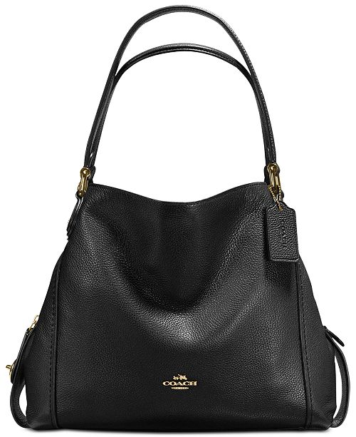 dd6000d5b8 COACH Edie Shoulder Bag 31 in Polished Pebble Leather   Reviews ...