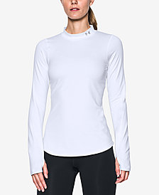 Under Armour ColdGear Fleece-Lined Mock-Neck Top