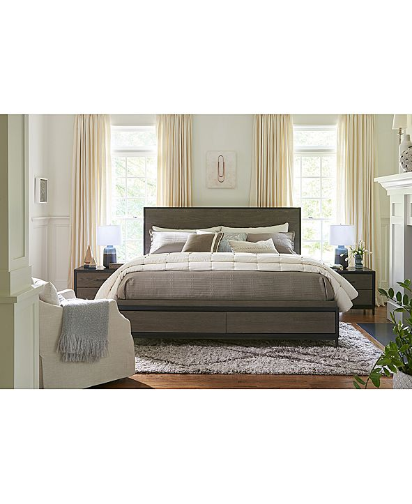 Furniture Avery Brown Storage Bedroom Furniture Collection