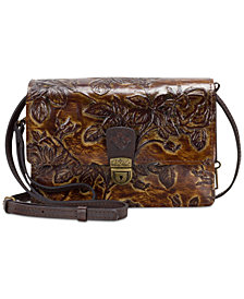 Patricia Nash Lanza Embossed Leather Crossbody Organizer, Created for Macy's