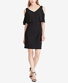 American Living Cold-Shoulder Popover Dress