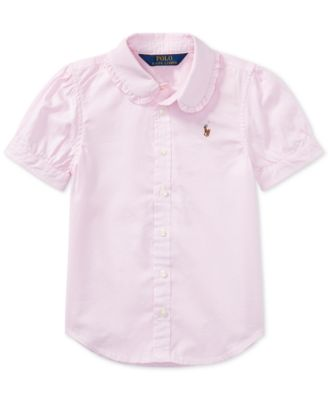 Ralph Lauren Little Girls Solid Oxford Top