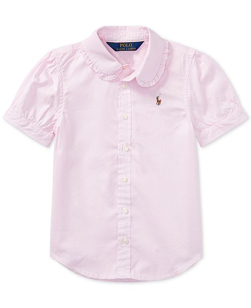 913777261 Polo Ralph Lauren Toddler Girls Solid Oxford Top & Reviews - Shirts ...