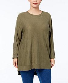 Love Scarlett Plus Size Zip-Back Tunic Sweater