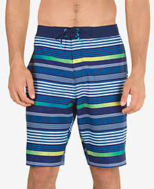 "Speedo Men's Striped 10"" Swim Trunks"