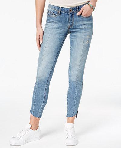 American Rag Juniors' Skinny Pieced Step-Hem Jeans, Created for Macy's