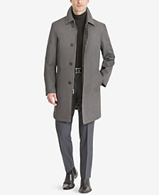 Calvin Klein Men's Marquez Slim-Fit Single-Breasted Raincoat