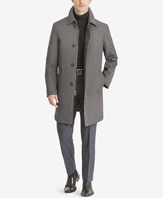 Calvin Klein Men's Marquez Slim-Fit Single-Breasted Raincoat