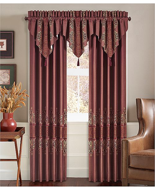"J Queen New York Ellington Red 84"" x 100"" Window Drapery"