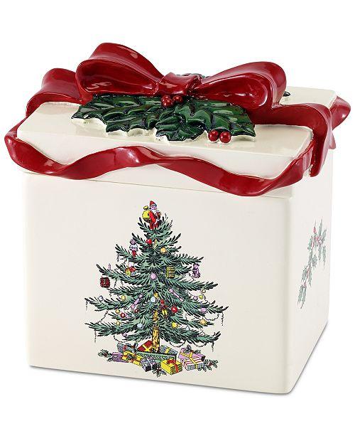 Avanti Closeout Spode Christmas Tree Tissue Cover Bathroom Accessories Bed Bath Macy 39 S