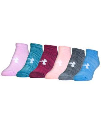 Under Armour Womenu0027s Essential Twist No Show Socks 6 Pack