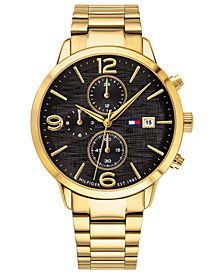 Tommy Hilfiger Men's Gold-Plated Bracelet Watch 42mm