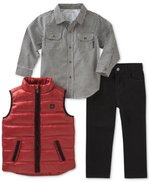 Calvin Klein 3Pc Vest Shirt  Pants Set Toddler Boys (2T5T)