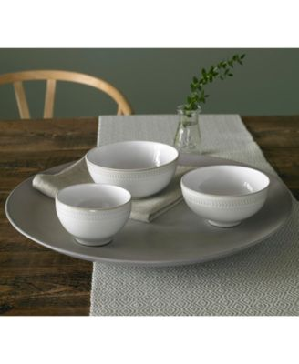 main image ...  sc 1 st  Macyu0027s & Denby Natural Canvas Chevron Cereal Bowl - Dinnerware - Dining ...