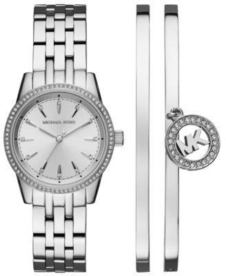 Michael Kors Women's Ritz Stainless Steel Bracelet Watch 33mm Gift ...