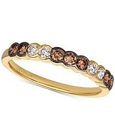 Le Vian Chocolate & Nude™ Diamond Bezel Ring (1/2 ct. t.w.) in 14k Gold