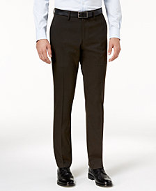 Kenneth Cole Reaction Men's Slim-Fit Stretch Glen Plaid Dress Pants