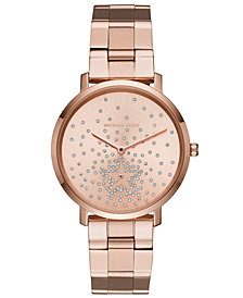Michael Kors Women's Jaryn Rose Gold-Tone Stainless Steel Bracelet Watch 38mm, Created for Macy's