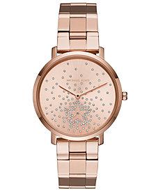 Michael Kors Women's Jaryn Rose Gold-Tone Stainless Steel Bracelet Watch 38mm, Created for Macy's
