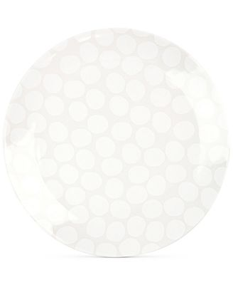 Coton Colors White Pebble Dinner Plate
