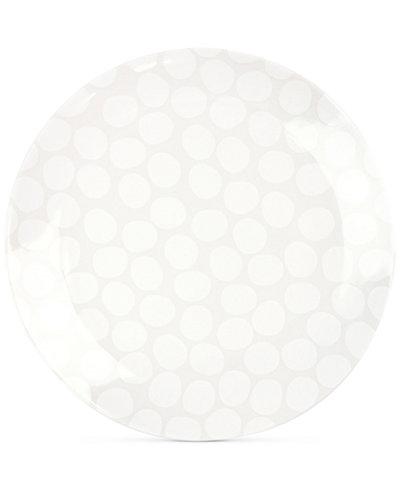 Coton Colors White Pebble Dinner Plate
